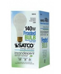 Satco S2518 Satco 140 Watt A-21 120 Volt E26 Medium Base Frosted Reduced Wattage Higher Lumen Incandescent Light Bulb
