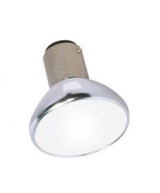 Satco S2643 Satco 20ALR12/SP18-GBE 20 Watt 12 Volt 37mm ALR12 Double Contact Bayonet Base GBE Spot Closed Aluminum Reflector Lamp