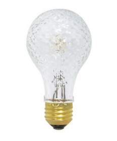 Satco S2647 Satco 50A/HAL/CRYSTAL 50 Watt 120 Volt A19 Medium Base Crystal Halogen Post Light Bulb