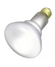 Satco S3408 Satco 65BR30/FL 130V 65 Watt BR30 130 Volt E26 Medium Base Frost Flood Reflector Incandescent Light Bulb