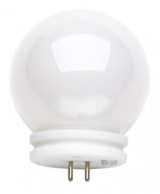 Satco S3190 Satco 20JVGVL-G14 20 Watt 12 Volt G14 Ball-Lite GX5.3 Long Neck White Halogen Ball Light Bulb