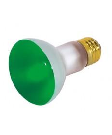 Satco S3201 Satco 50R20/G 50 Watt 130 Volt R20 Medium Base Green Reflector Flood Light Bulb