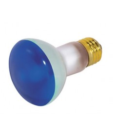 Satco S3202 Satco 50R20/B 50 Watt 130 Volt R20 Medium Base Blue Reflector Incandescent Light Bulb
