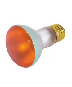 Satco S3203 Satco 50R20/A 50 Watt 130 Volt R20 Medium Base Amber Reflector Flood Light Bulb