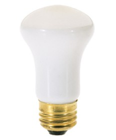 Satco S4702 Satco 40R16 40 Watt 120 Volt R16 Medium Base Frost Reflector Flood Carded Light Bulb