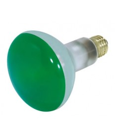 Satco S3227 Satco 75BR30/G 75 Watt 130 Volt BR30 Medium Base Green Flood Light Bulb