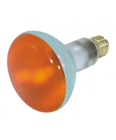 Satco S3239 Satco 75BR30/A 75 Watt 130 Volt BR30 Medium Base Amber Flood Light Bulb