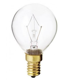 Satco S4707 Satco 40G14 40 Watt 130 Volt G14 E14 Euro Base Clear Globe Decorative Light Bulb