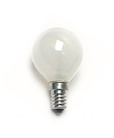 Satco S3398 Satco 40G14/W 40 Watt 130 Volt G14 E14 Euro Base White Globe Decorative Light Bulb