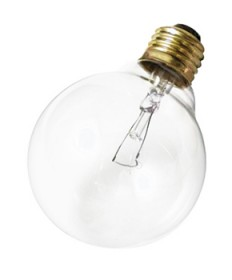 Satco A3644 Satco 40G25 220V 40 Watt 220 Volt G25 Medium Base Clear Decorative Globe Incandescent Light Bulb