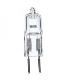 Satco S3470 50 Watt T4 Halogen Bulb Clear Bi Pin GY6.35 Base 12 Volts