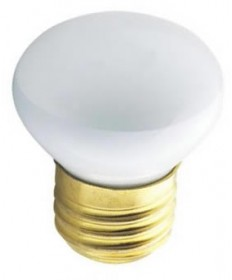 Satco S3601 Satco 25R14 25 Watt 120 Volt R14 Short Neck Medium Base Reflector Incandescent Light Bulb