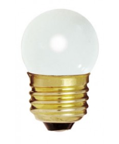 Satco S3795 Satco 7-1/2S11/W 7.5 Watt 120 Volt S11 Medium Base Glossy White Incandescent Carded Light Bulb
