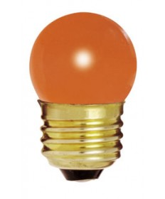 Satco S4510 Satco 7-1/2S11/O 7.5 Watt 120 Volt S11 Medium Base Ceramic Orange Incandescent Carded Light Bulb