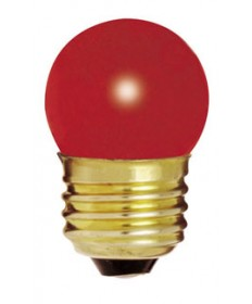 Satco S3611 Satco 7-1/2S11/R 7.5 Watt 120 Volt S11 Medium Base Ceramic Red Incandescent Light Bulb
