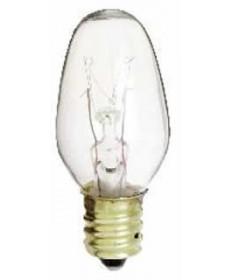 Satco S3680 Satco 4C7 4 Watt 120 Volt C7 Clear Candelabra Base Incandescent Light Bulb