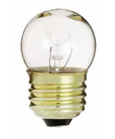 Satco S3794 Satco 7-1/2S11 7.5 Watt 120 Volt S11 Medium Base Clear Incandescent Carded Light Bulb