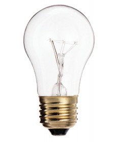 Satco S3720 Satco 40A15 40 Watt 130 Volt A15 Medium Base Clear Appliance Carded Light Bulb