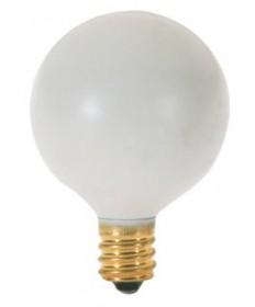 Satco S3830 Satco 10G12.5/W 10 Watt 120 Volt G12.5 E12 Candelabra Base White Globe Light Bulb