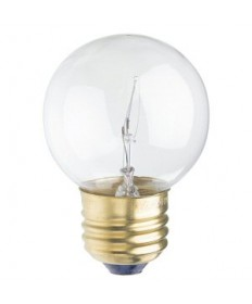 Satco S3838 Satco 25G16.5 25 Watt 120 Volt G16.5 Medium Base Clear Globe Decorative Light Bulb