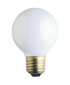 Satco S3841 Satco 25G16.5/W 25 Watt 120 Volt G16.5 Medium Base White Globe Decorative Light Bulb