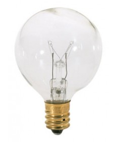 Satco S3844 10 Watt G12.5 Candelabra Base Incandescent Light Bulb