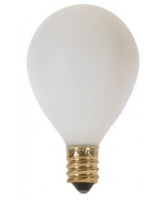 Satco S3863 Satco 25G12.5/W 25 Watt 120 Volt G12.5 Pear Shape Candelabra Base White Incandescent Light Bulb