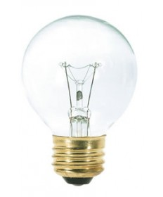 Satco S3887 Satco 25G18.5 25 Watt 120 Volt G18.5 Medium Base Clear Globe Decorative Light Bulb