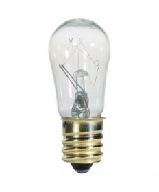 Satco S4567 Satco 3S6/5 6 Watt S-6 130 Volt E12 Candelabra Base Clear 1500 Hour Incandescent Light Bulb