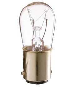 Satco S3901 Satco 6S6/DC 6 Watt 130 Volt S6 Double Contact Bayonet Base Clear Incandescent Light Bulb