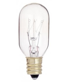 Satco S4718 Satco 15T7/C 15 Watt 130 Volt T7 Candelabra Base Clear Incandescent Carded Light Bulb