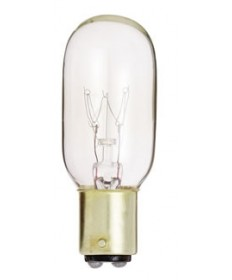 Satco S3906 Satco 15T7/DC 15 Watt 130 Volt T7 Double Contact Bayonet Base Clear Incandescent Light Bulb