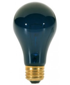Satco S3920 Satco 75A/BL 75 Watt 120 Volt A19 Medium Base Incandescent Black Light Bulb