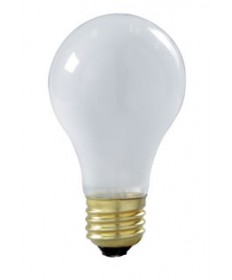 Satco S3927 Satco 60A19/RS/TF 60 Watt 130 Volt A19 Medium Base Frosted Rough Service Shatter Proof Incandescent Light Bulb