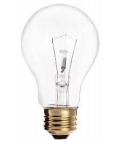 Satco S3940 Satco Light Bulbs 25A19 - 25 Watt - 130 Volt - A19 - Clear - Incandescent - A-Type - Household Light Bulb