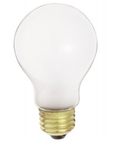 Satco S3950 Satco 25A19/F 130V 25 Watt 130 Volt A19 Medium Base Frost General Service Household Light Bulb