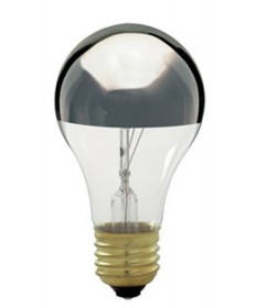 Satco S3955 Satco Light Bulbs 60A/SL - 60 Watt - 130 Volt - Silver Crown - Light Bulb