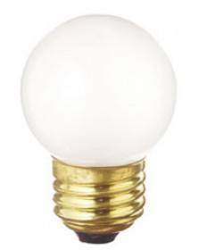 Satco S3968 Satco 40G17/W 40 Watt 130 Volt G17 E27 Medium Base White Globe Decorative Medicinie Cabinet Light Bulb