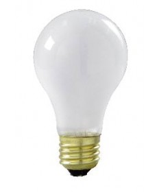 Satco S3969 Satco 50A/RS 50 Watt 130 Volt A19 Medium Base Frost Rough Service Light Bulb