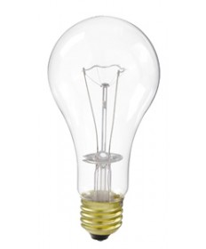 Satco S2993 Satco 67A21/TS/8M 67 Watt A-21 120 Volt E26 Medium Base Clear Extra Long Life 8000 Hour Incandescent Light Bulb