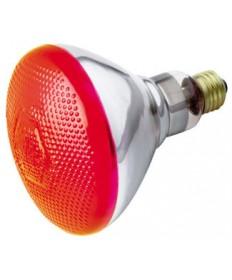 Satco S4424 100BR38/R Satco 100 Watt 120 Volt BR38 Medium Red Weatherproof Reflector Flood