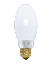 Satco S4474 Satco H45/46DL-40/50DX 50 Watt ED17 Medium Base Coated Mercury Vapor Light Bulb