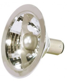 Satco S4681 Satco 20AR70/FL25 20 Watt 12 Volt AR70 Double Contact Bayonet Base Flood 25 Degree Halogen Aluminum Reflector Lamp