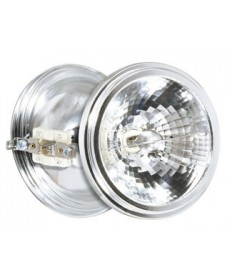 Satco S4686 Satco 35AR111/SP8 35 Watt 12 Volt AR111 G53 Base Spot 8 Degree Halogen Aluminum Reflector Lamp