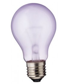 Satco S2991 Satco 60A/GRO 60 Watt A-19 120 Volt E26 Medium Base GRO 1000 Hour Incandescent Light Bulb