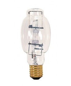 Satco S4384 Satco MP175/BU-ONLY 175 Watt BT28 Mogul Base Clear Open Rated 4000K BU +/- 15 10,000 Hour ANSI M57/O Metal Halide Light Bulb