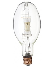 Satco S4255 Satco MP320/BU/ED37/UVS/PS 320 Watt ED37 EX39 Mogul Base Pulse Start Clear 4000K Metal Halide Light Bulb