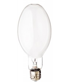 Satco S4270 Satco MS400W/C/BU/LU 400 Watt ED37 Mogul Base 3700K Coated Standard Start White Lux Metal Halide Light Bulb