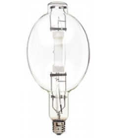 Satco S4837 Satco MH1500/HBU 1500 Watt BT56 Mogul Horizontal Base Up Clear Metal Halide Light Bulb