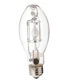 Satco S4852 Satco MP150/U/UVS/PS 150 Watt EDX17 E26 Medium Base Pulse Start Clear Open Fixture Metal Halide Light Bulb